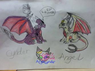 CynderAngel skecthes by AngelCnderDream14
