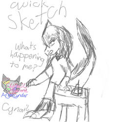 Quick Sketch Transforming Etichieaka Race by AngelCnderDream14