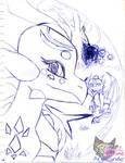 Angel in Dream World in pen by AngelCnderDream14