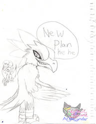 Kawcaw's evil plan of thoughts sketch by AngelCnderDream14