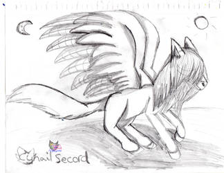 Pegasus plus shading sketch by AngelCnderDream14