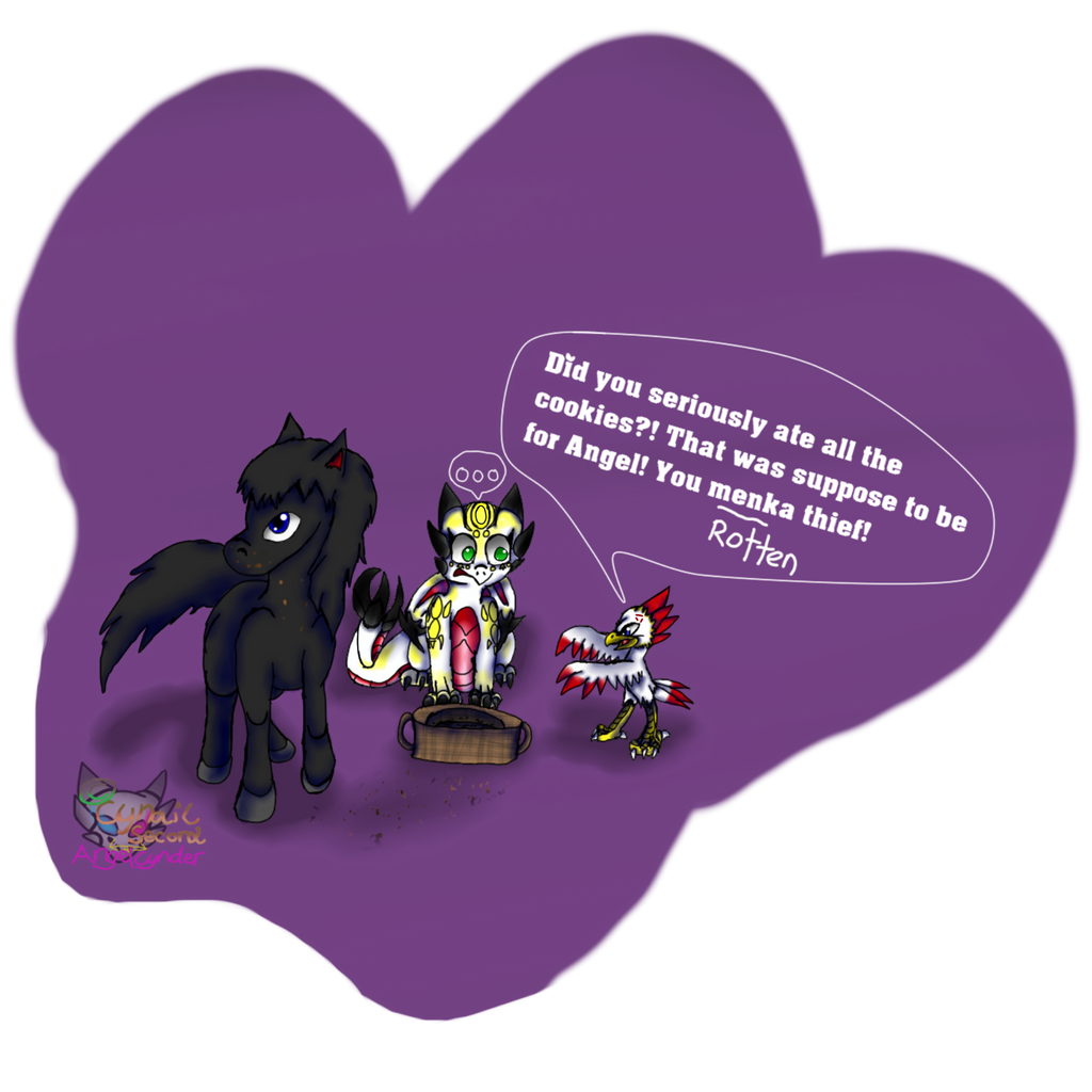 CartoonKawcaw and Angel Cookie theft SUPPORT ME! by AngelCnderDream14