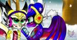 Angel and Cnder snowfall