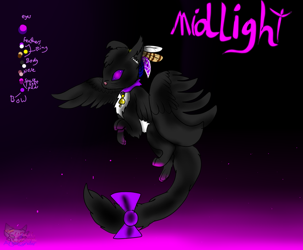 Space winged cat * Midlight by AngelCnderDream14