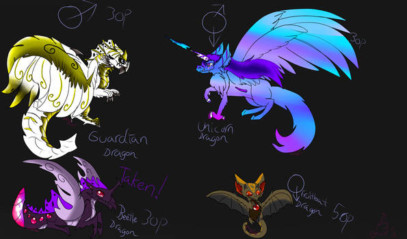 Update NOW POINTS! Dragons adoptable OPEN! #1 by AngelCnderDream14