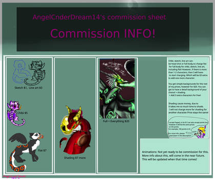 AngelCnder's Commission Sheet OPEN! by AngelCnderDream14