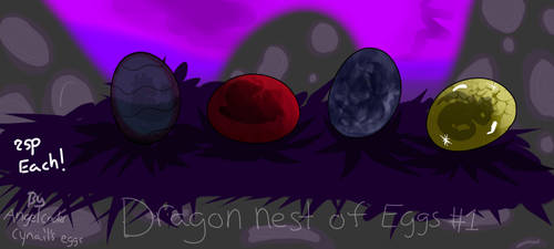 Dragon eggs adopts #1OPEN 25p! by AngelCnderDream14