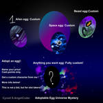 Adoptable Egg Universe #1 Mystery [CLOSED ]