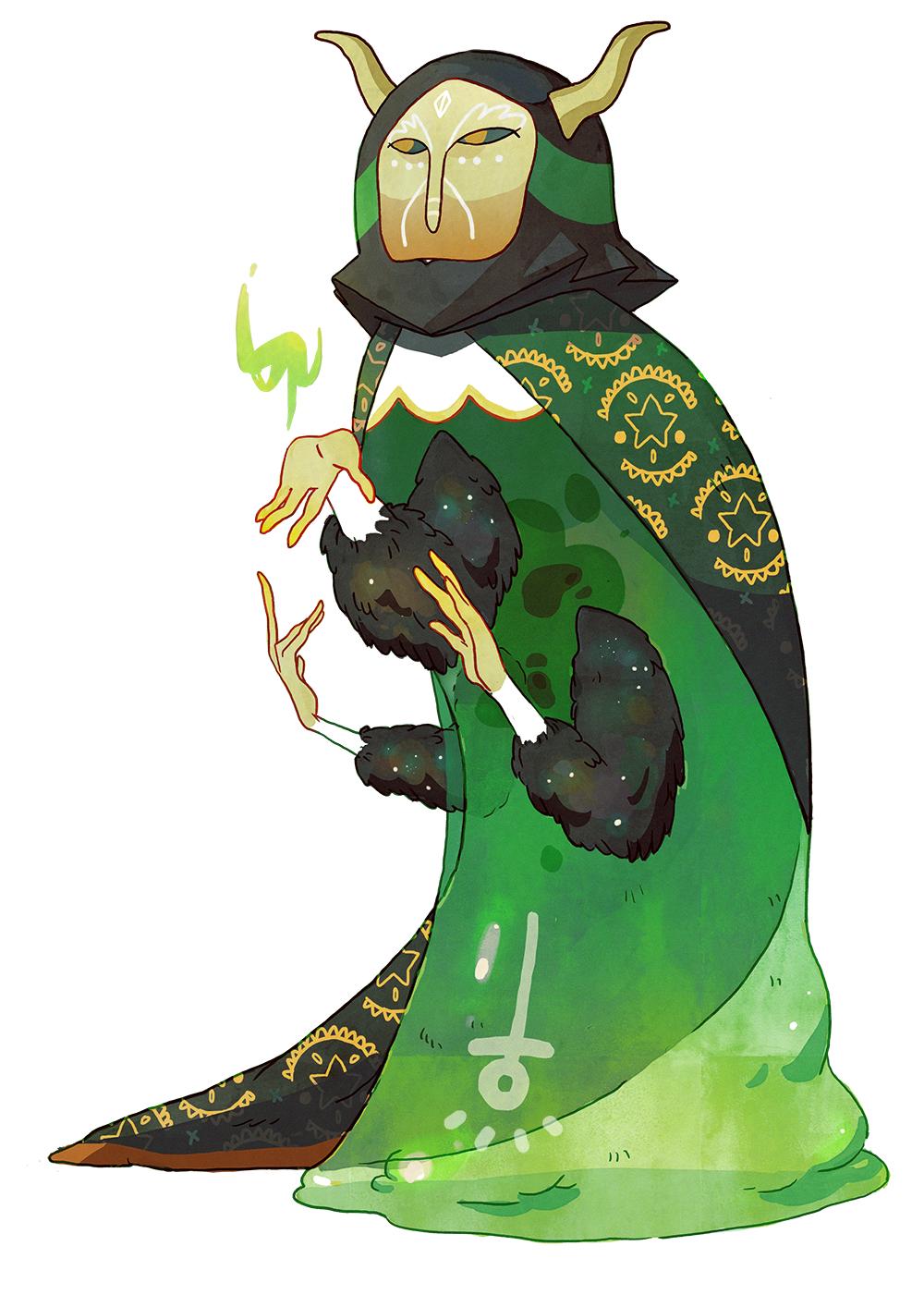 Green Magician by CaroWaro