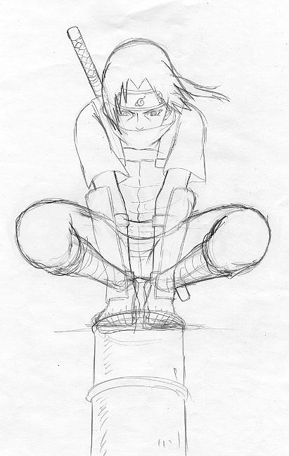itachi sketch by moonsaber59 on deviantart