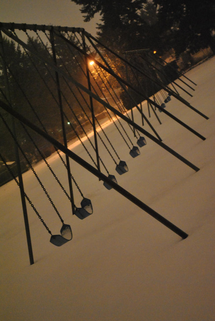 Swings in Snow 3 by TimesReaper