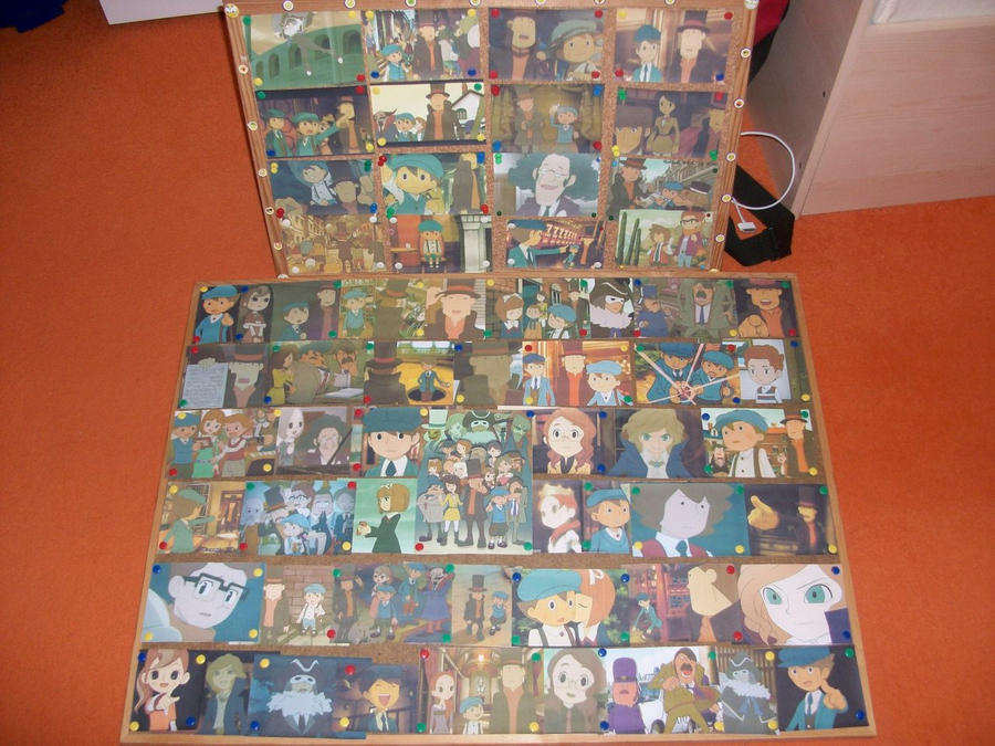 Professor Layton Pinboard 2 by kenabe