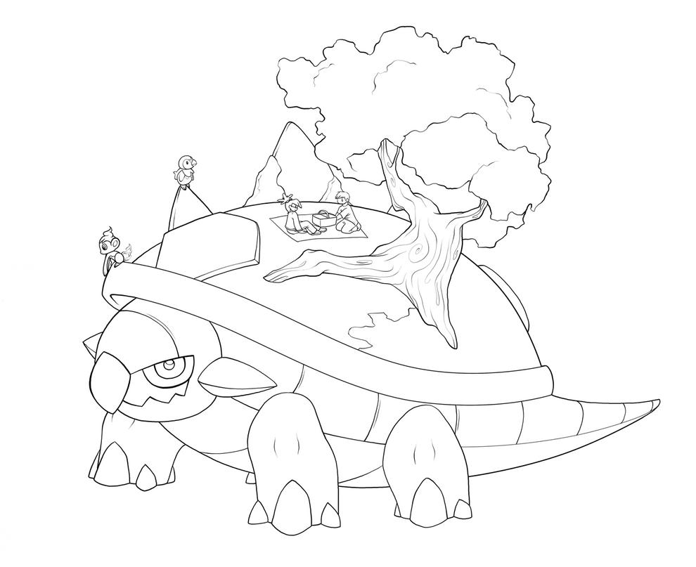 torterra pokemon coloring pages - photo#5
