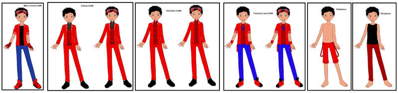 Neros' outfits in Detective Pikachu: Case Closed by DisneyEquestrian2012