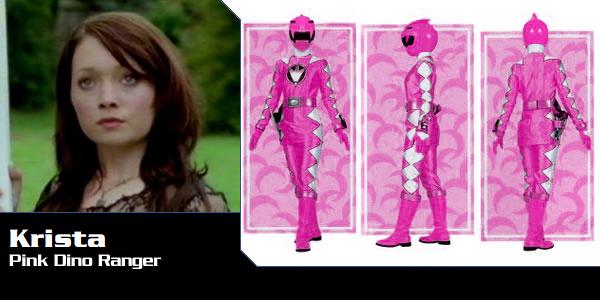 Krista Natura the Pink Dino Thunder Ranger by DisneyBrony2012