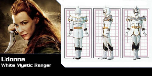 Udonna the White Mystic Force Ranger by DisneyEquestrian2012