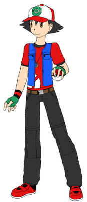 Ash Ketchum in new outfit