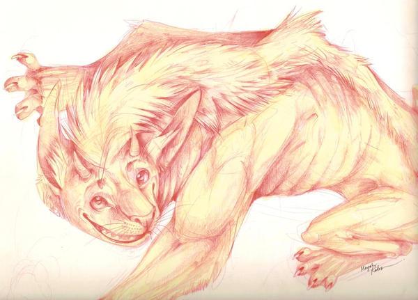 happy lemur demon by Dingokiss