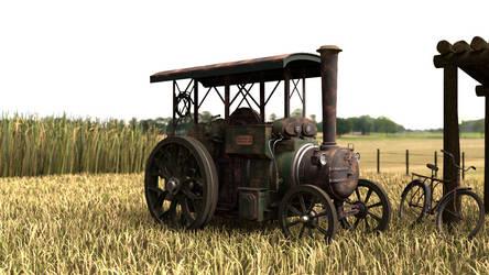 3D Model - Aveling-Barford Steam Tractor by fabioskol