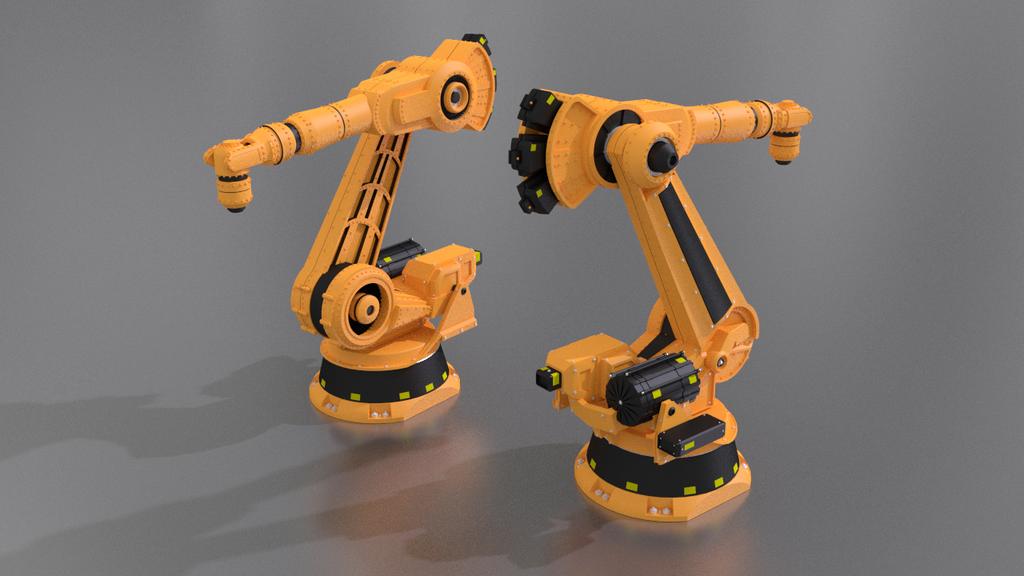 3d model industrial robot arm by fabioskol on deviantart for Deviantart 3d models