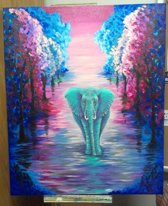 Abstract Elephant by Jessrose1214 on DeviantArt