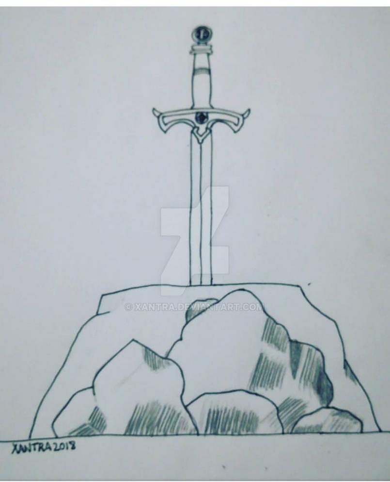 Inktober 2018 Excalibur by Xantra