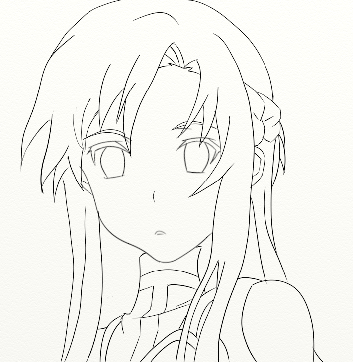 how to draw kirito and asuna step by step