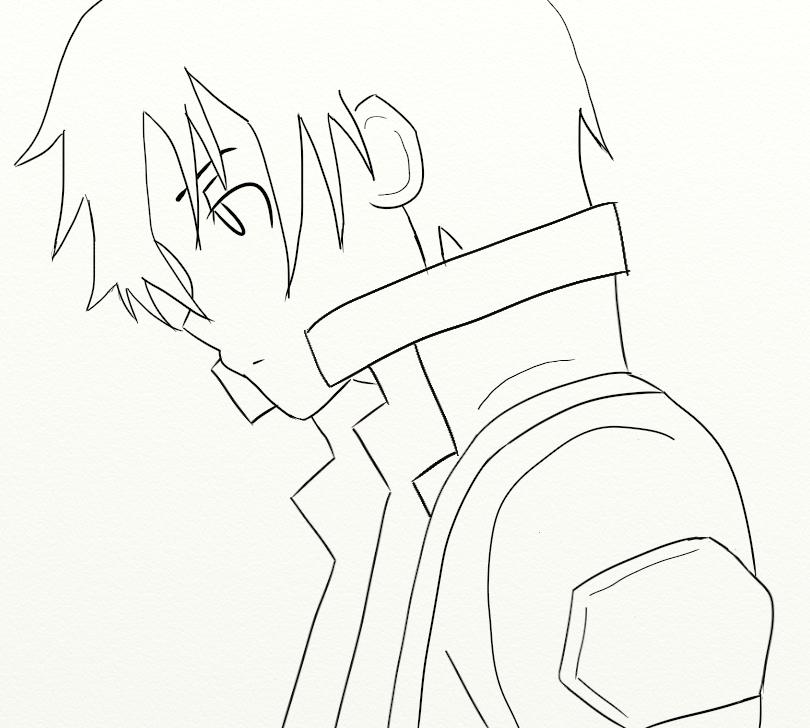 Kirito Sword Art Online Pencil Coloring Pages