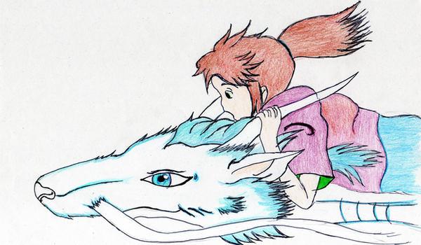 Chihiro and Kuhaku by Moonlight-Kaon