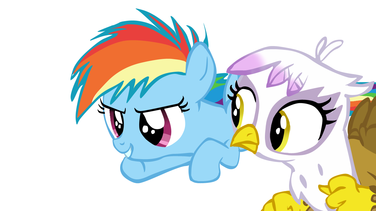 Filly Rainbow Dash and Filly Gilda Vector by ...