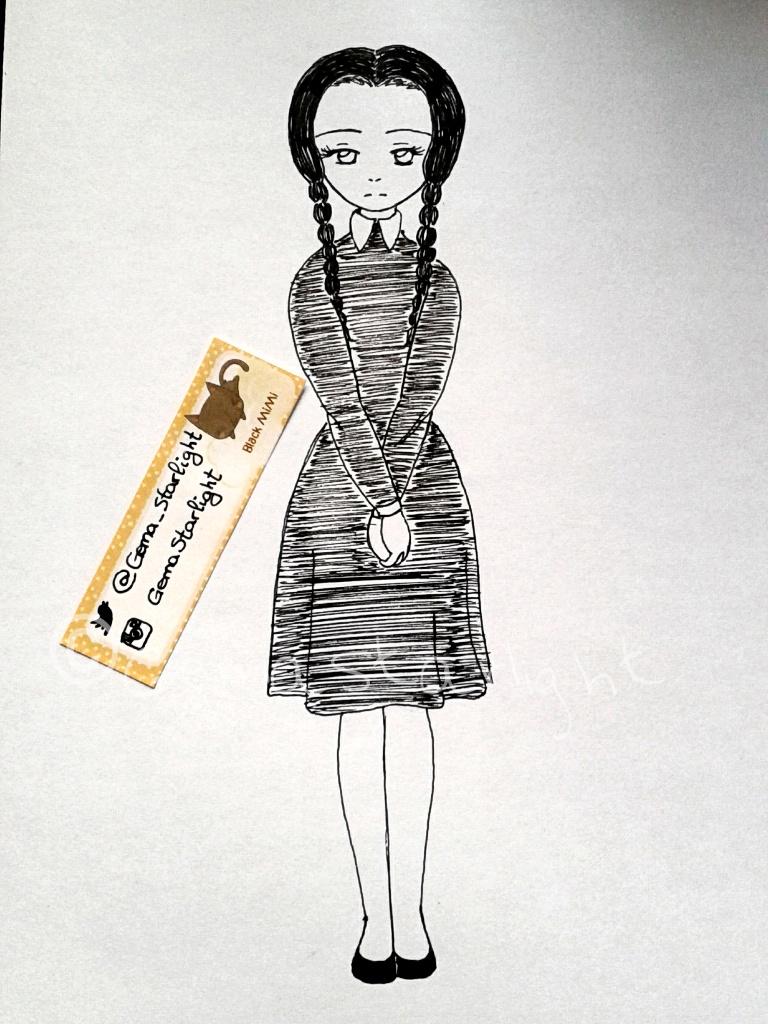 Wednesday Addams by GemaStarlight