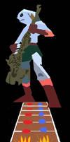 Guitar Hero Zora Link by TheHylianHaunter