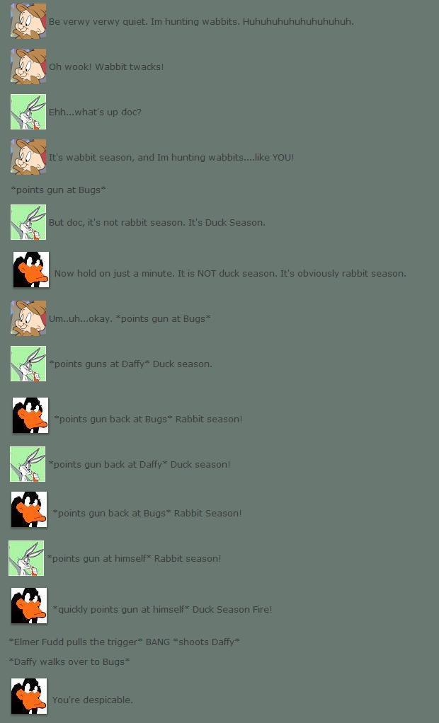 Rabbit Season plz meme LoL by elfofcourage