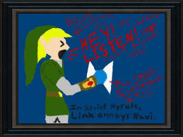 Link annoys Navi LMAO by TheHylianHaunter