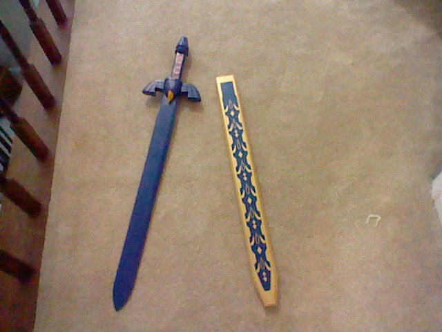 Wooden Master Sword by elfofcourage