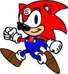 Sonic recolored as Mario by TheHylianHaunter