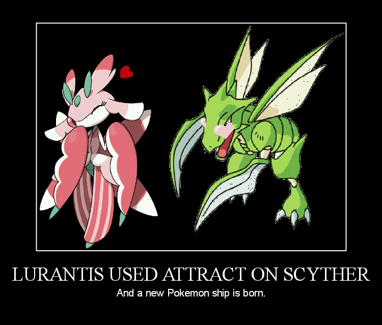 Lurantis used ATTRACT on Scyther XD by TheHylianHaunter on ...