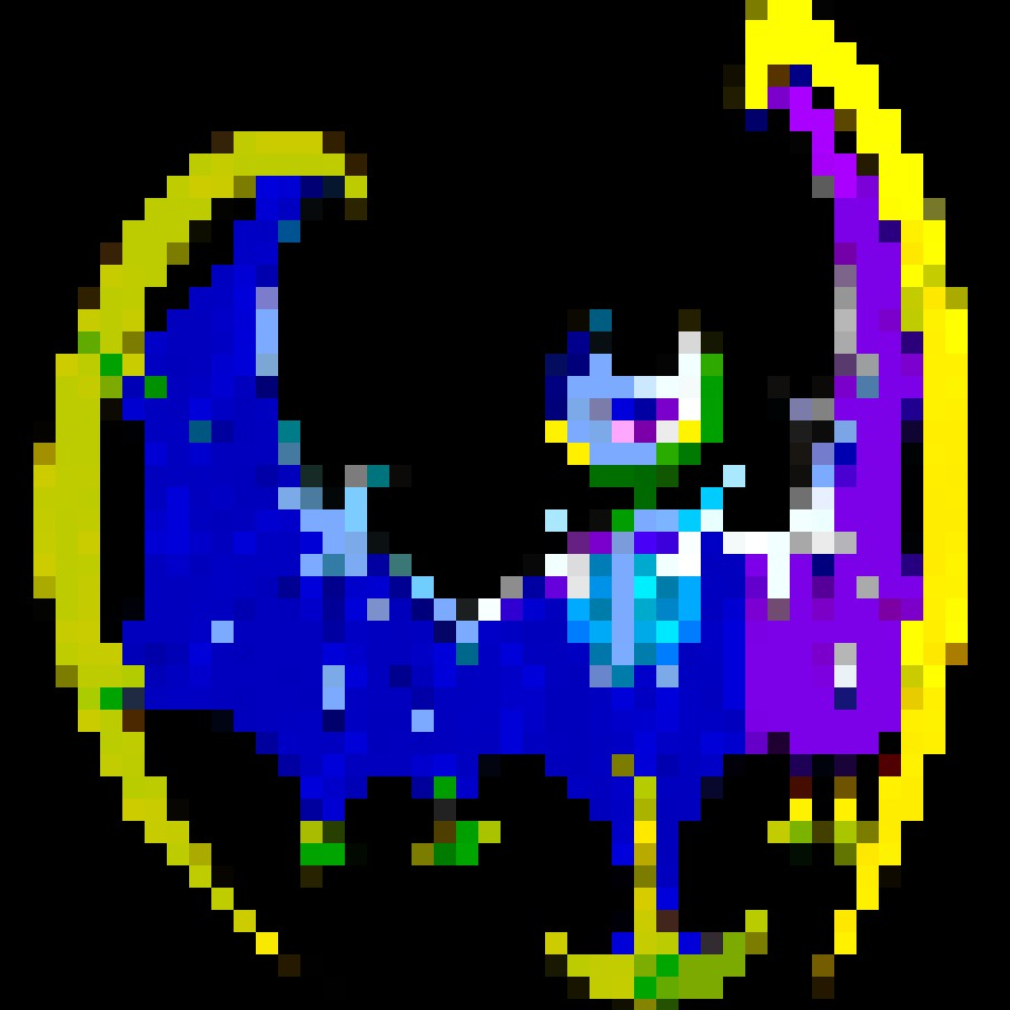 Pokemon Pixels Lunala By Thehylianhaunter On Deviantart