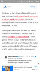 Switch outsells Wii in Japan