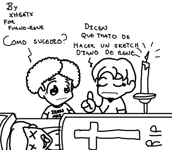 Sketch para Fauno-Rene by XHEATX