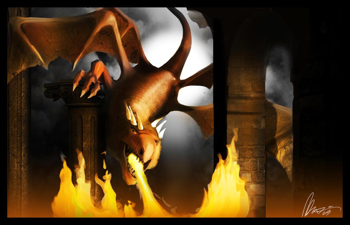 Red dragon by AzArm222