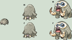 Summer Swinub line Sprites by Pokii-kun