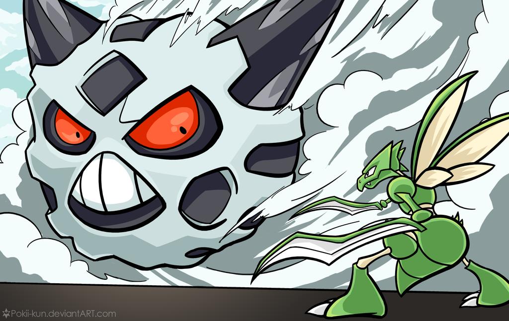 Attack On Titan Pokemon Doublade Attack on Glalie [Poke...