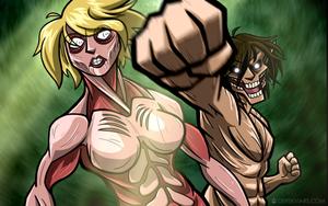 Attack on (Female) Titan by Pokii-kun