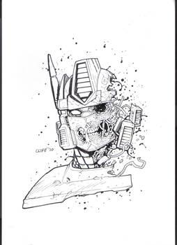 sketch zombie optimus prime