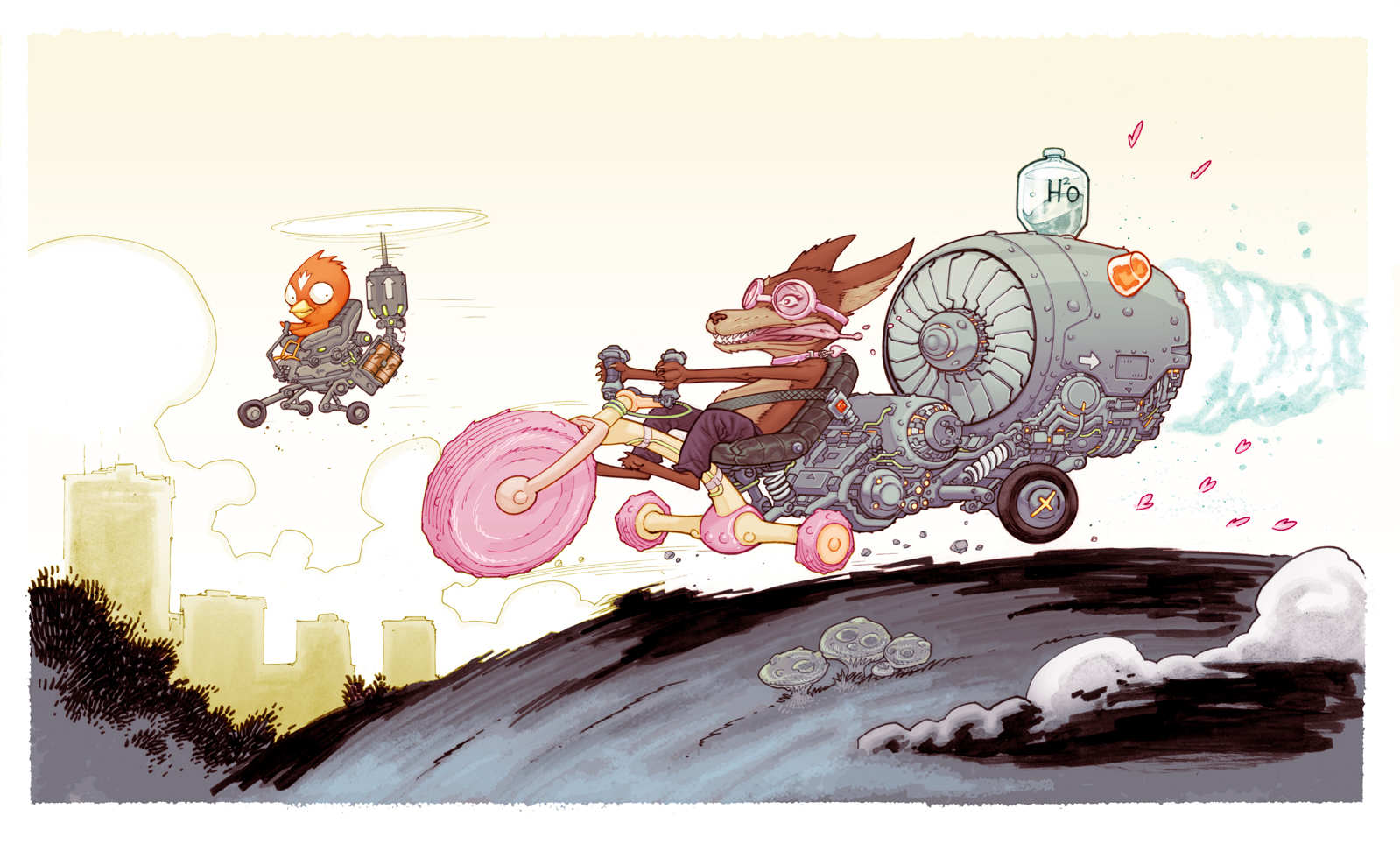 joyride doggy by cliff-rathburn