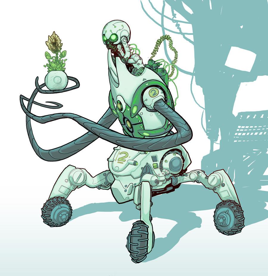 garden-keeper-robot by cliff-rathburn