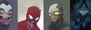 head sketches
