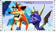 Crash and Spyro Stamp 2 by manknux5667