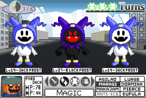 Shin Megami Tensei GBA mock-up - Vs. Black Frost by HeatPhoenix